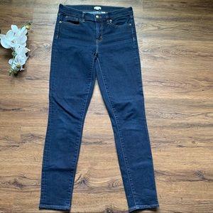 Like new j. Crew dark wash skinny jeans 27